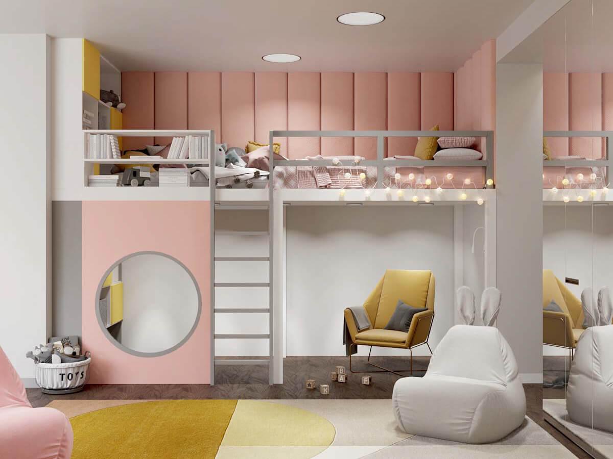 Мебель в комнату девочки 6 лет проект 3751-3