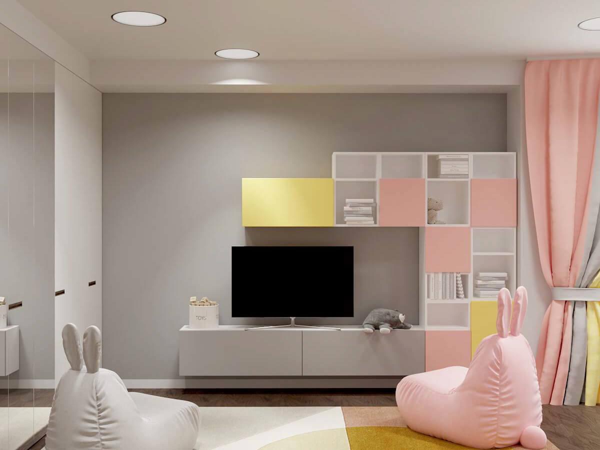 Мебель в комнату девочки 6 лет проект 3751-4