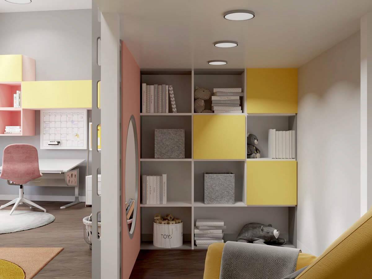 Мебель в комнату девочки 6 лет проект 3751-5