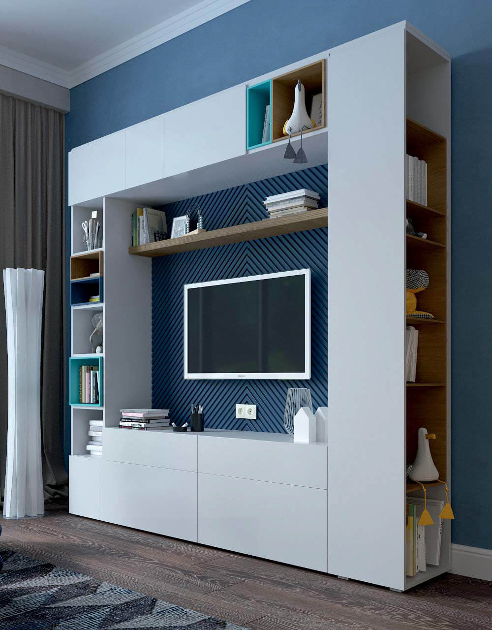 Мебель в комнату для девочки 10 лет проект 3743-3