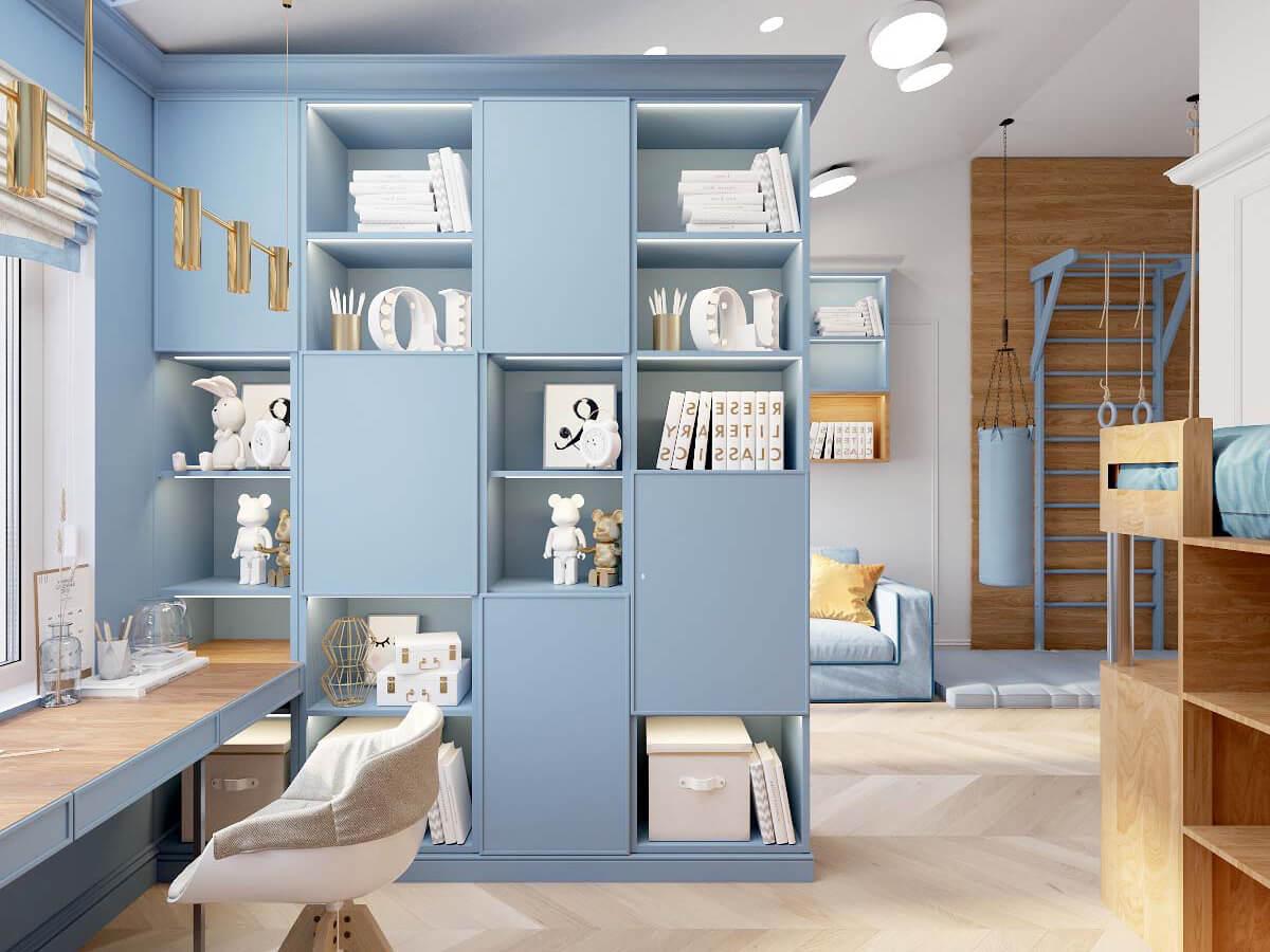 Мебель в комнату мальчика 8 лет проект 3895-2-1