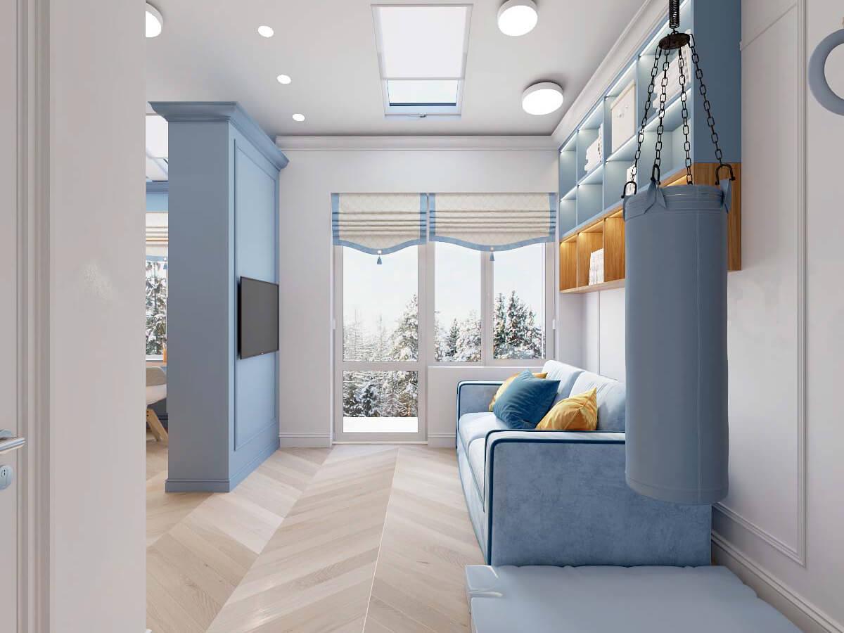 Мебель в комнату мальчика 8 лет проект 3895-2-3