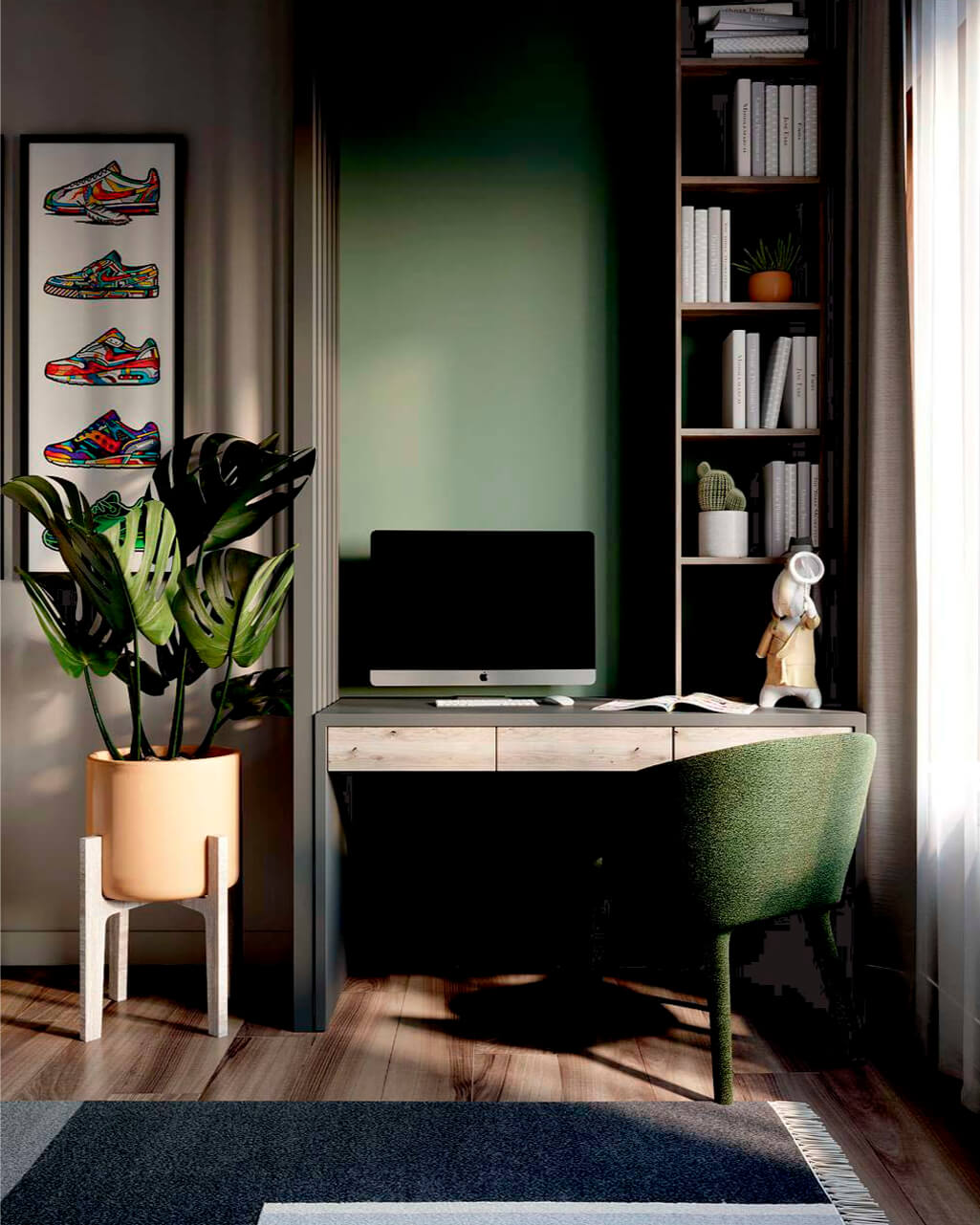 Мебель в комнату мальчика-школьника проект 4049-1-2