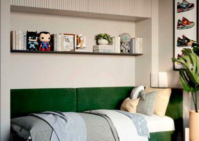 Подростковая мебель в комнату мальчика-школьника — проект 4049-1