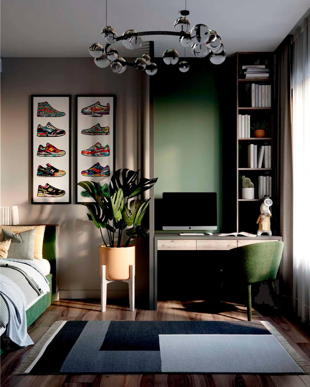 Мебель в комнату мальчика-школьника проект 4049-1-5
