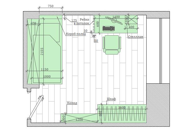 Мебель в комнату мальчика-школьника проект 4049-1-7