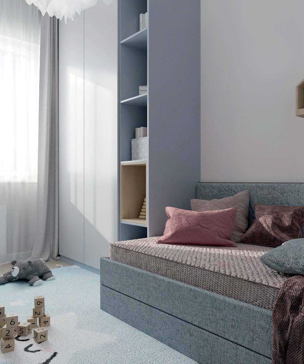 Мебель в комнату новорожденного проект 4031-1-1