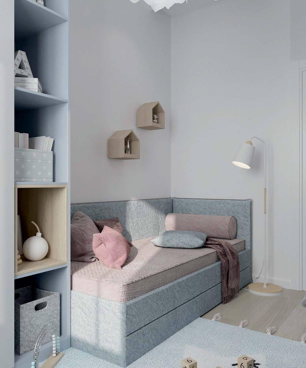 Мебель в комнату новорожденного проект 4031-1-2