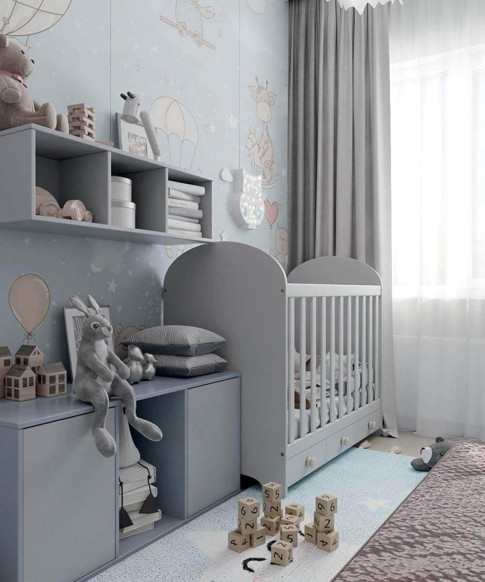 Мебель в комнату новорожденного проект 4031-1-4