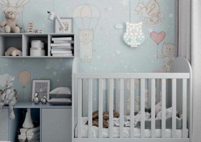 Детская мебель в комнату новорожденного мальчика — проект 4031-1