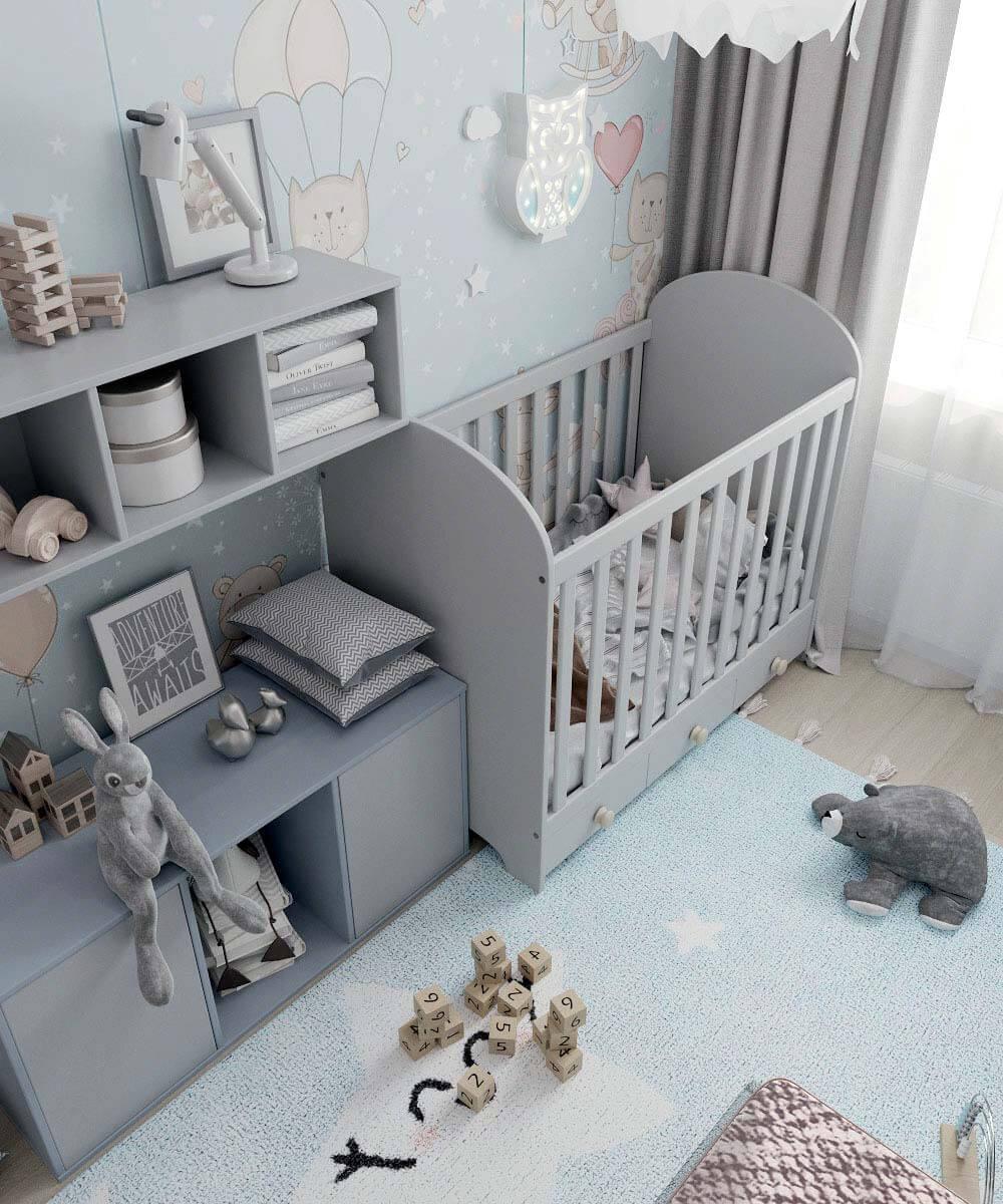 Мебель в комнату новорожденного проект 4031-1-9