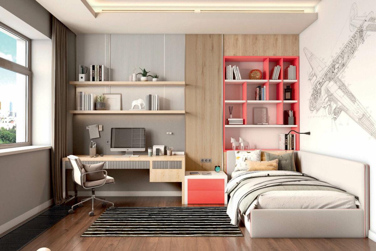 Мебель в подростковую комнату мальчика проект 4243-1-1