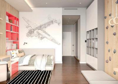 Эргономичная мебель в подростковую комнату мальчика — проект 4243-1