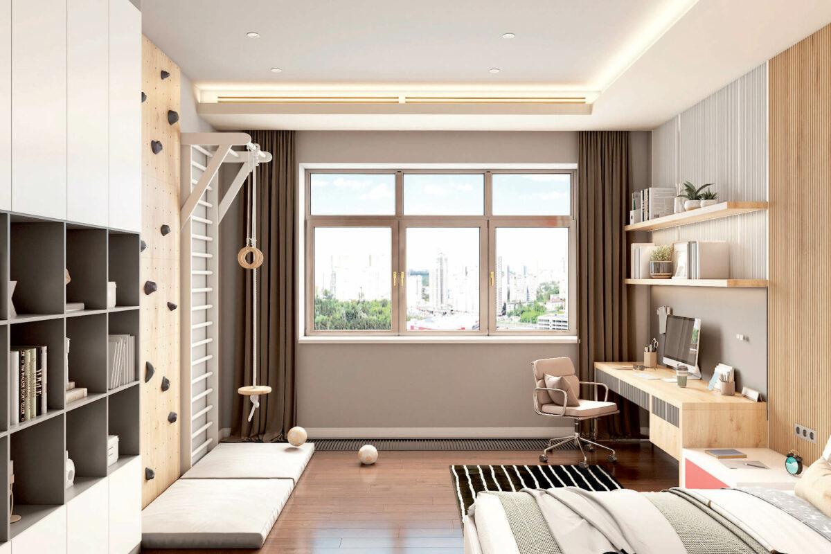 Мебель в подростковую комнату мальчика проект 4243-1-5