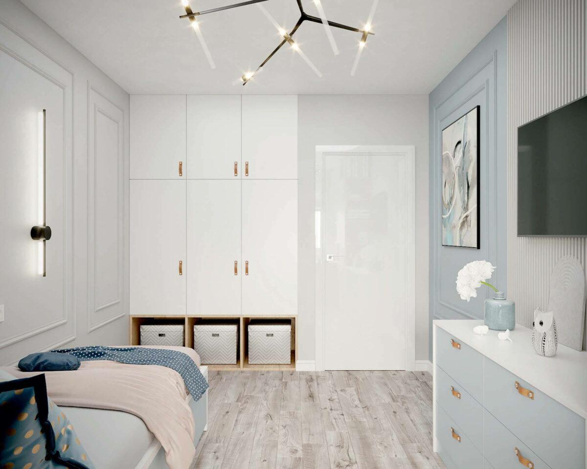 Мебель в подростковую спальню девочки проект 3907-2