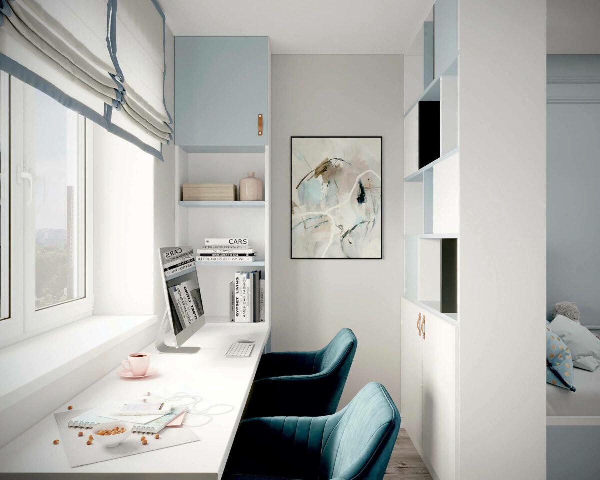 Мебель в подростковую спальню девочки проект 3907-3