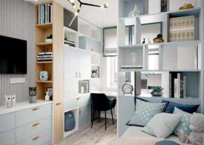 Стильная мебель в подростковую спальню девочки — проект 3907