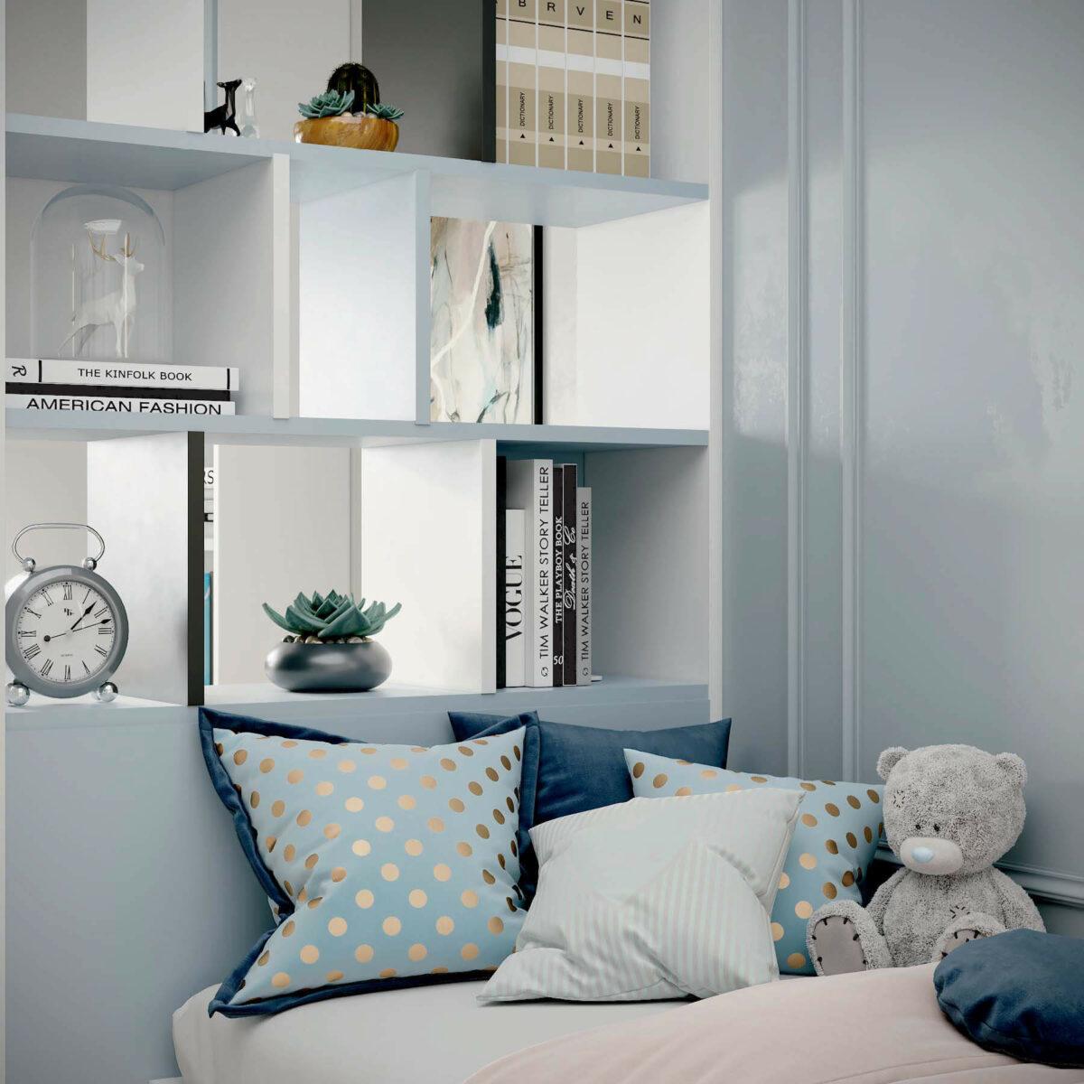 Мебель в подростковую спальню девочки проект 3907-6