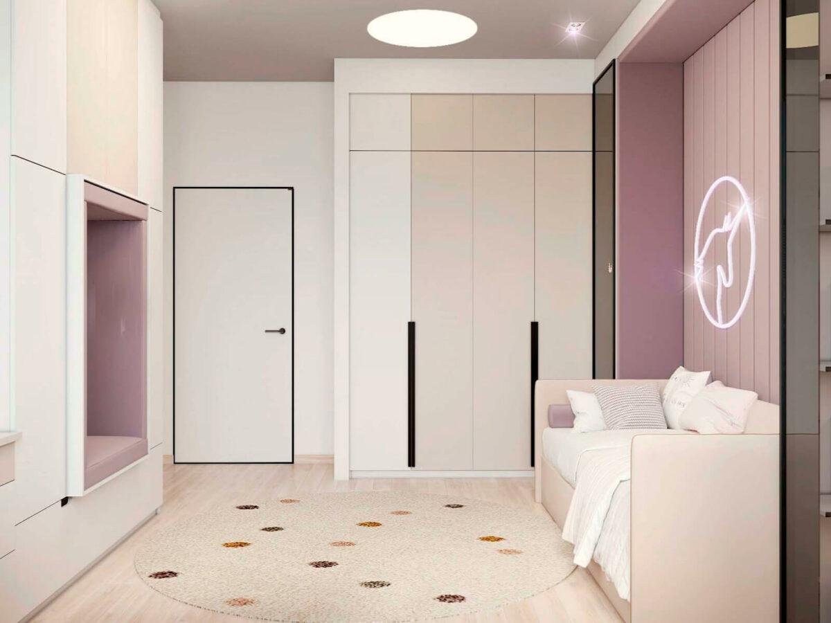 Мебель в подростковую спальню девочки проект 5577-1