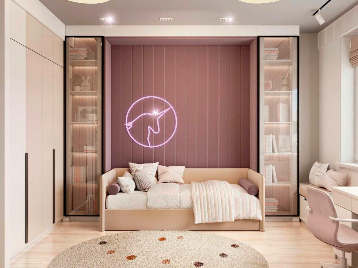 Мебель в подростковую спальню девочки проект 5577-3