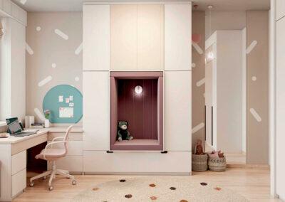 Стильная мебель в подростковую спальню девочки — проект 5577