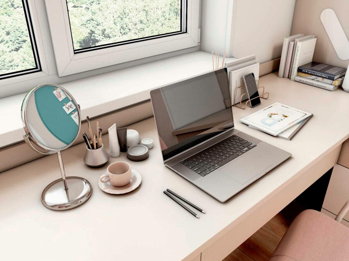 Мебель в подростковую спальню девочки проект 5577-5