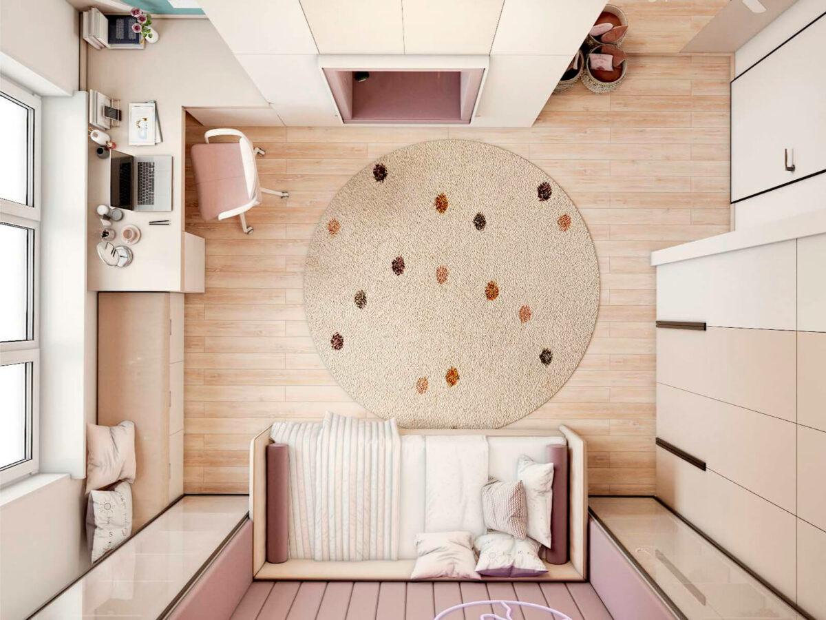 Мебель в подростковую спальню девочки проект 5577-6