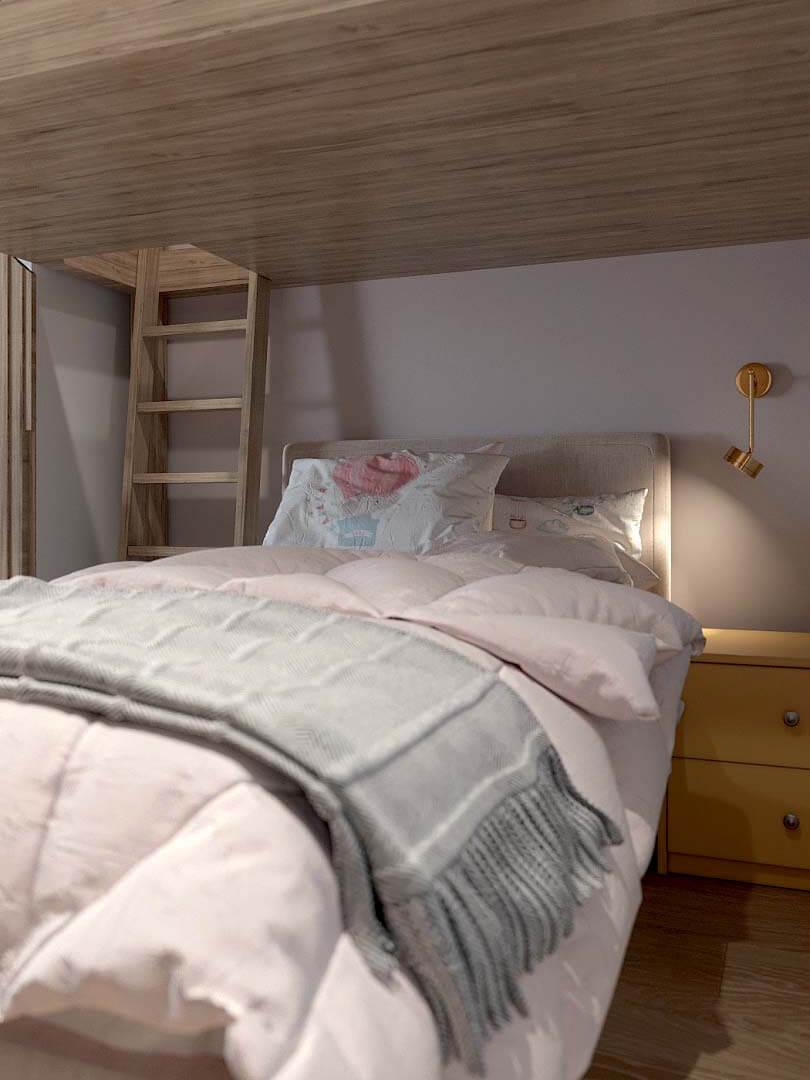 Мебель в спальню девочки 9 лет проект 3433-2-1