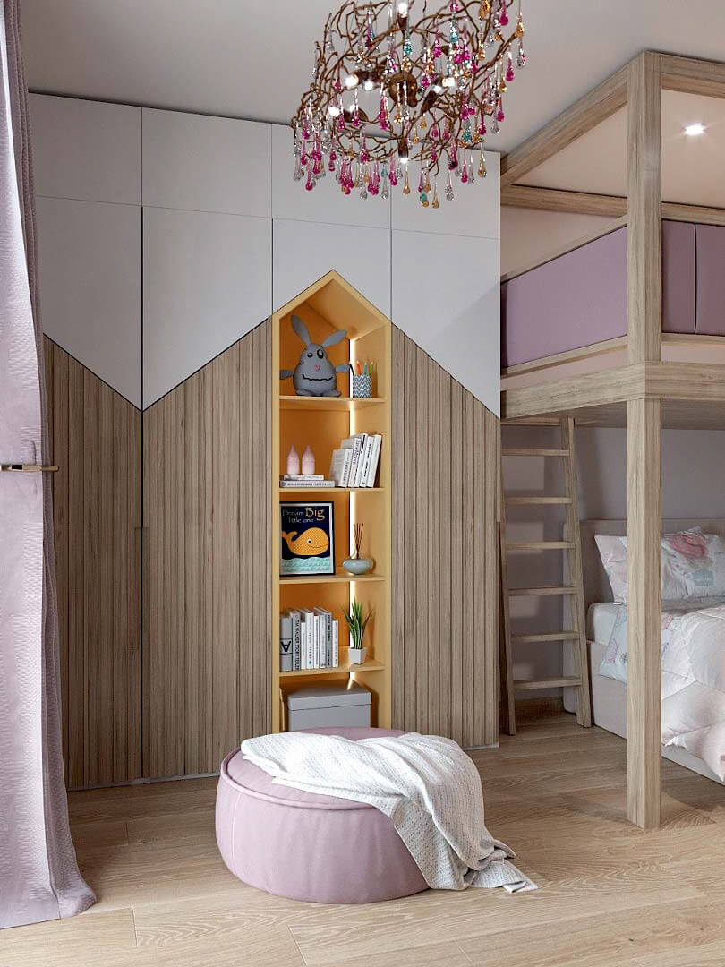 Мебель в спальню девочки 9 лет проект 3433-2-2