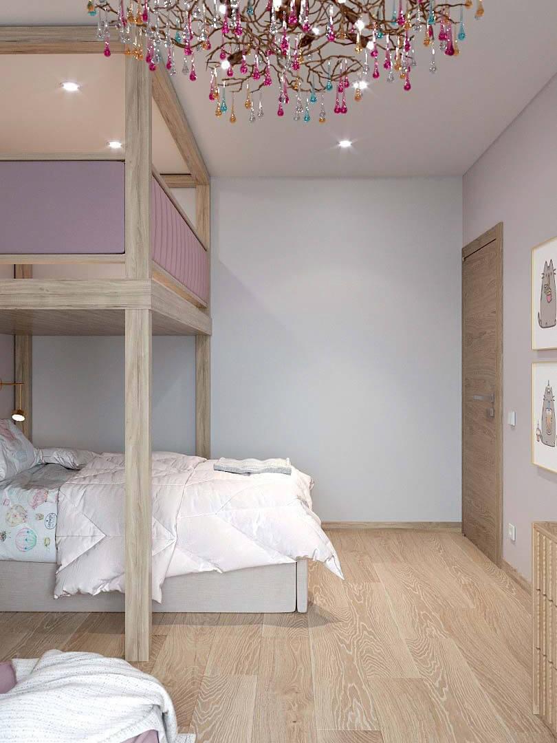Мебель в спальню девочки 9 лет проект 3433-2-3