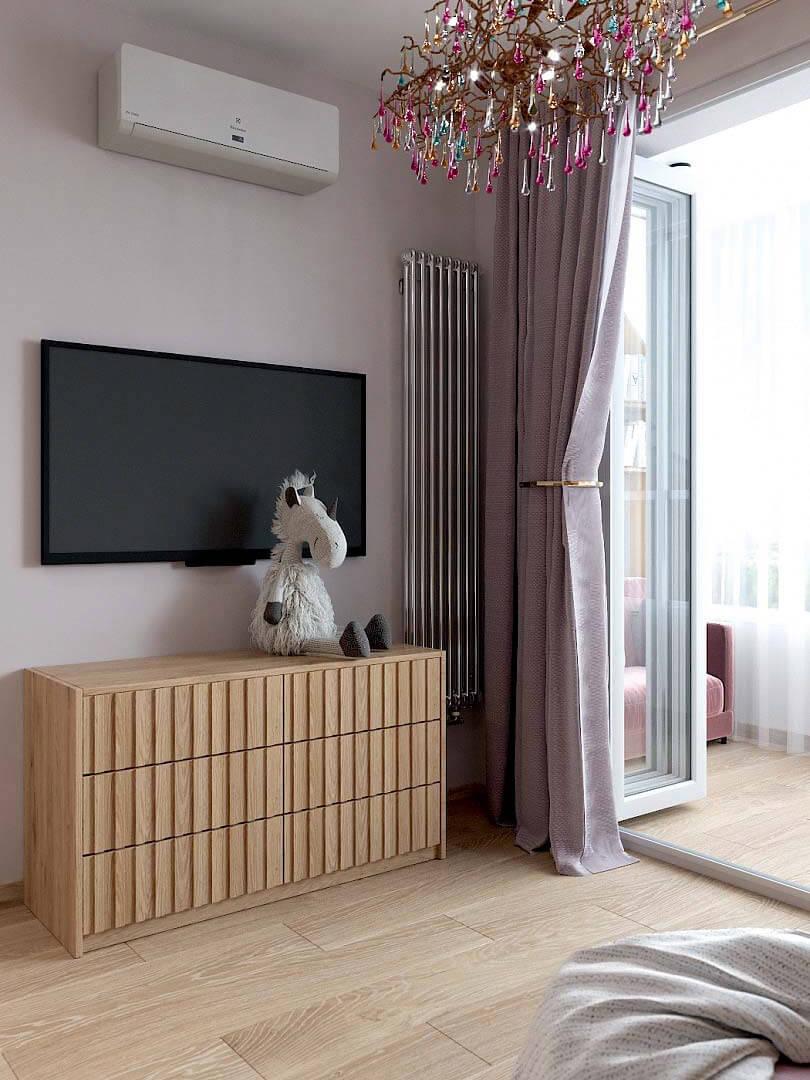 Мебель в спальню девочки 9 лет проект 3433-2-4