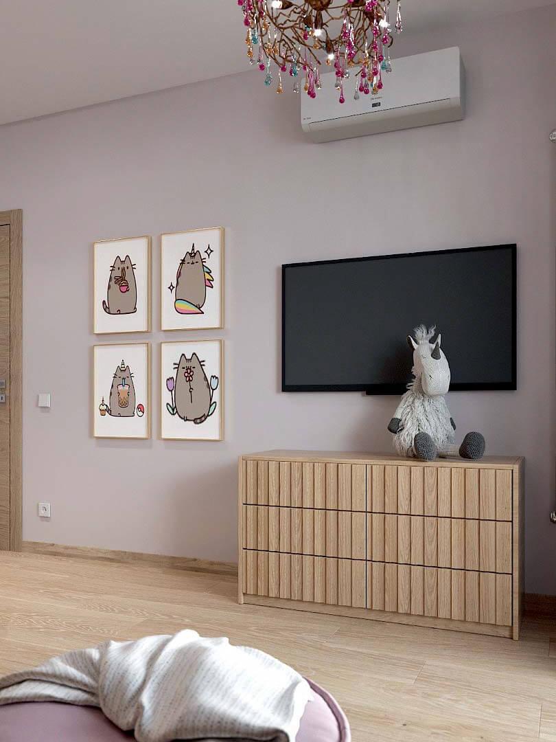 Мебель в спальню девочки 9 лет проект 3433-2-5