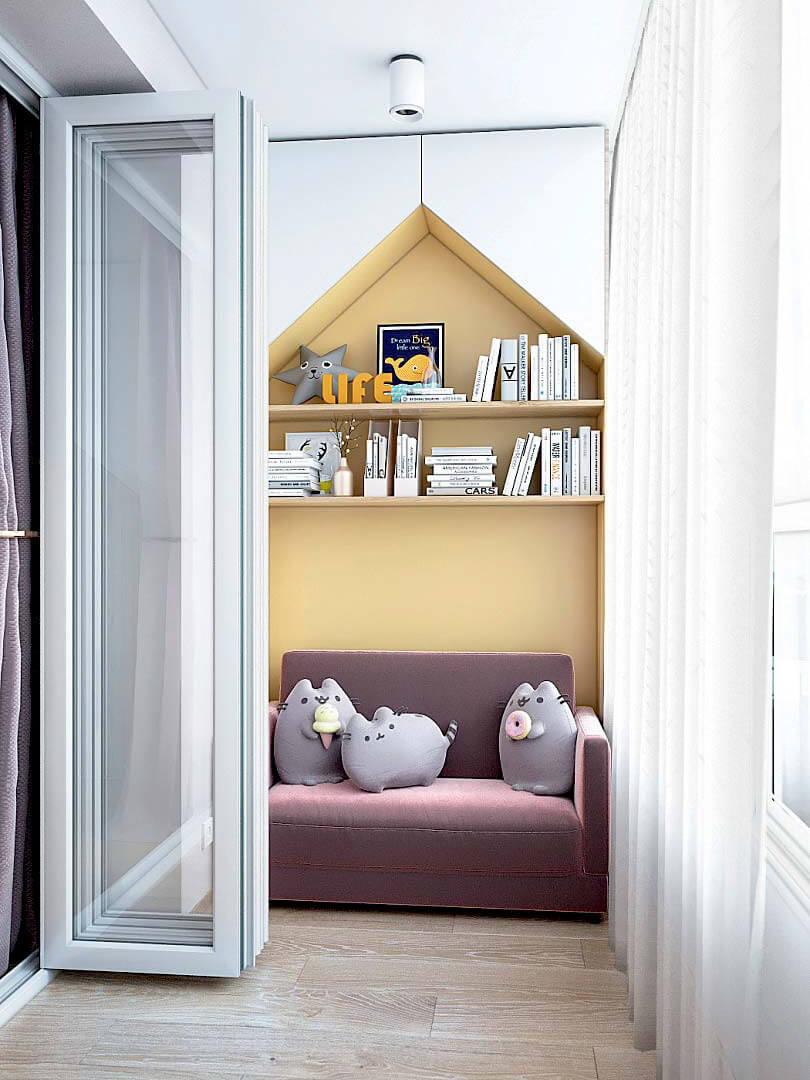 Мебель в спальню девочки 9 лет проект 3433-2-8