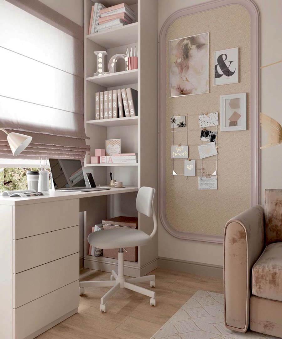 Мебель в спальню девочки-школьницы 10-14 лет проект 3865-1