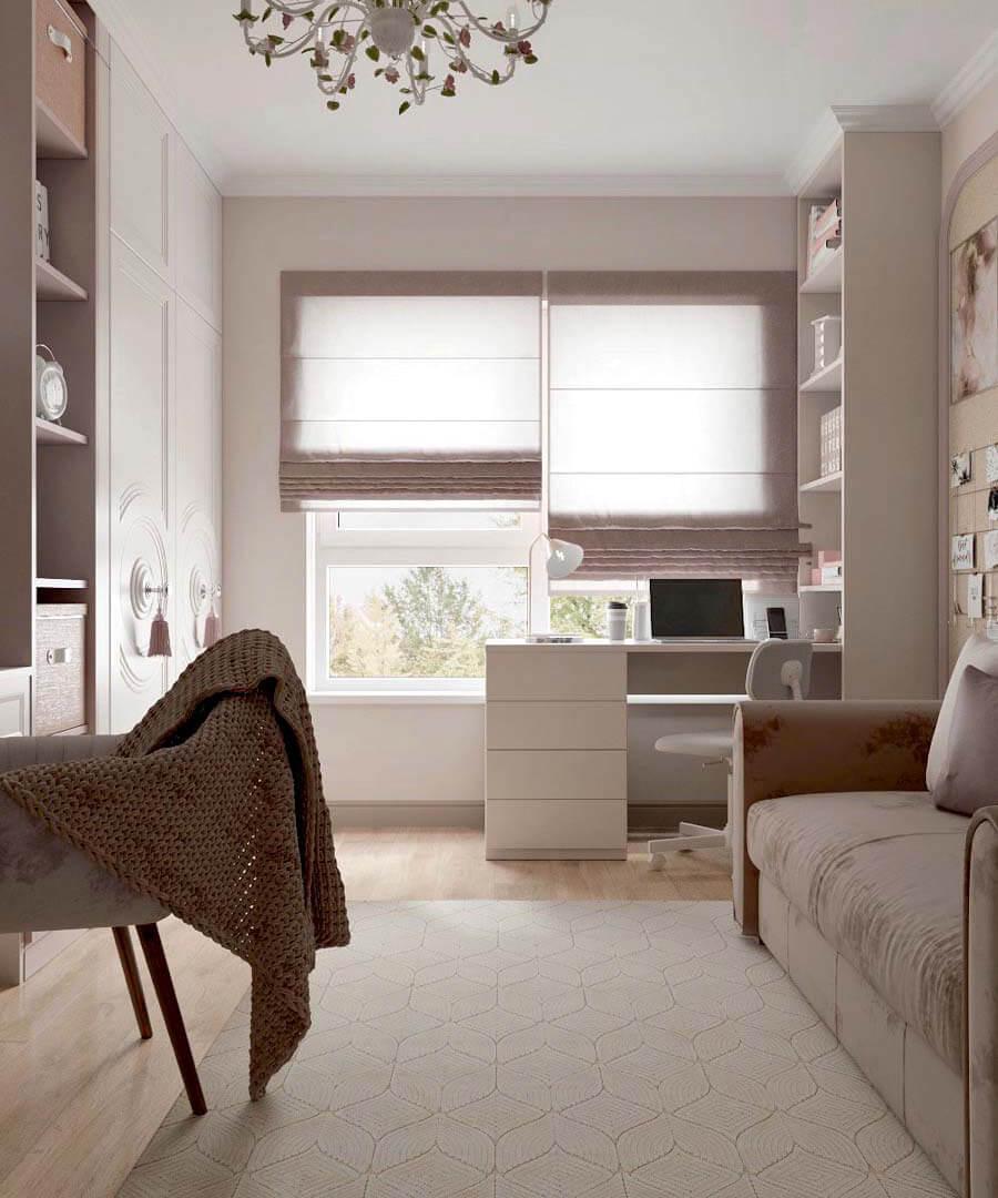 Мебель в спальню девочки-школьницы 10-14 лет проект 3865-5