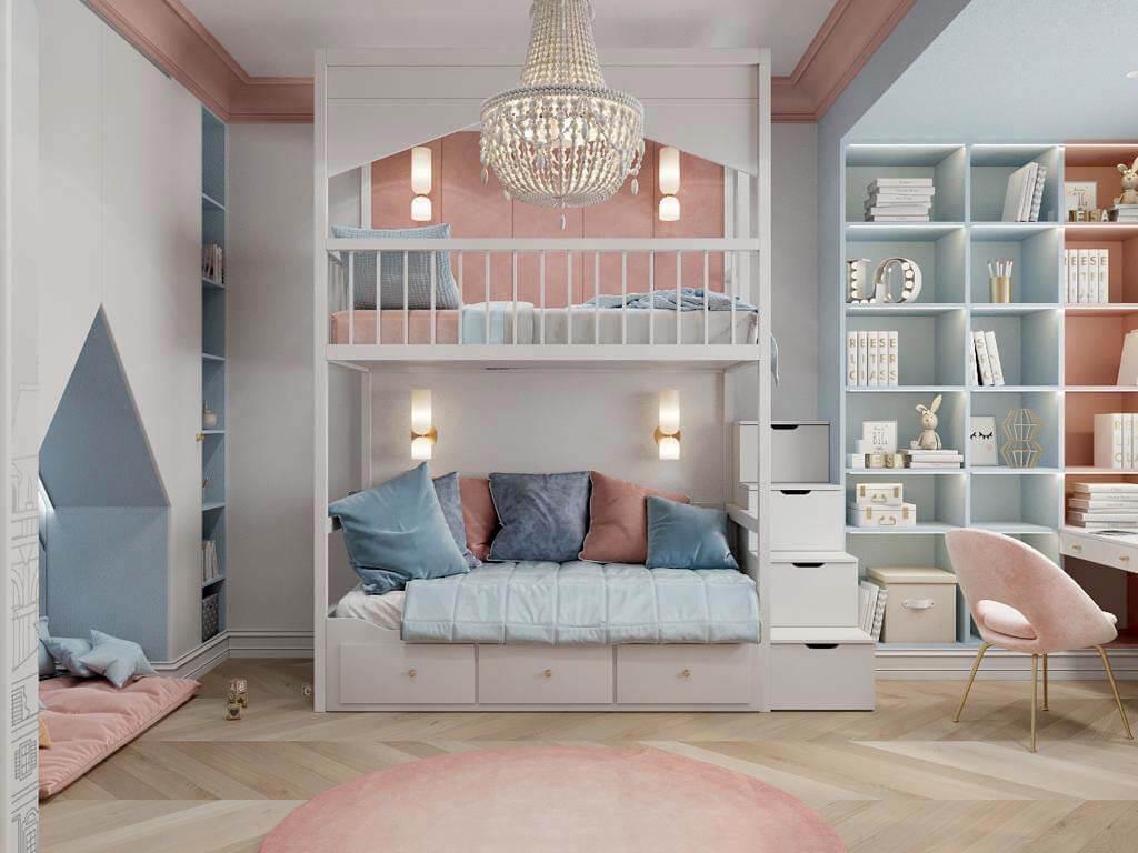 Мебель в спальню девочки-школьницы проект 3895-3-1