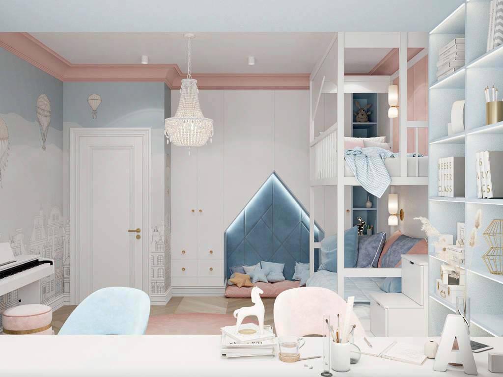 Мебель в спальню девочки-школьницы проект 3895-3-2