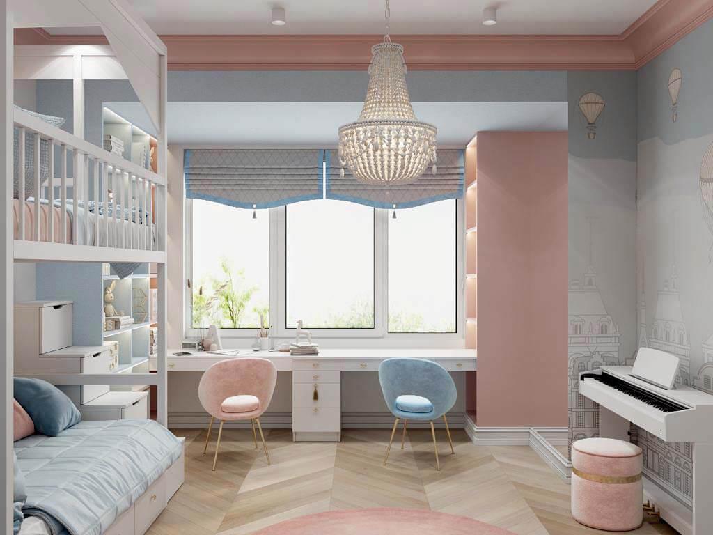 Мебель в спальню девочки-школьницы проект 3895-3-3