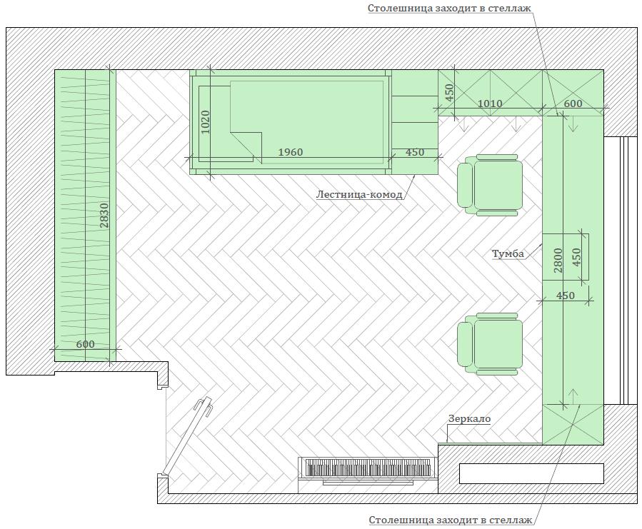 Мебель в спальню девочки-школьницы проект 3895-3-5