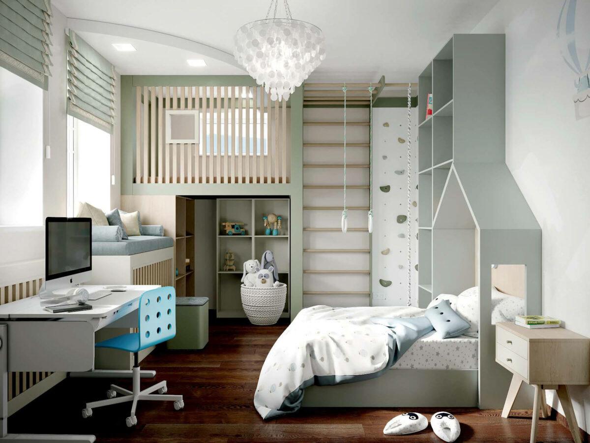Мебель в спальню для мальчика 7 лет проект 3875-2
