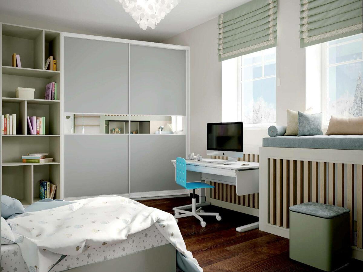 Мебель в спальню для мальчика 7 лет проект 3875-4