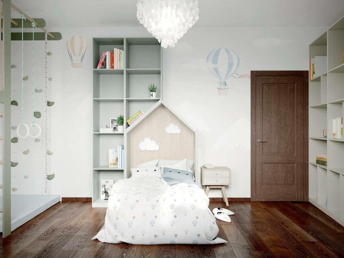 Мебель в спальню для мальчика 7 лет проект 3875-5