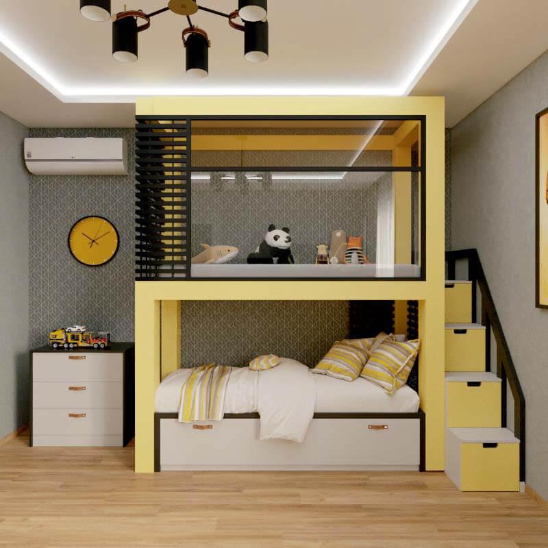 Мебель в спальню мальчика проект 4039-1