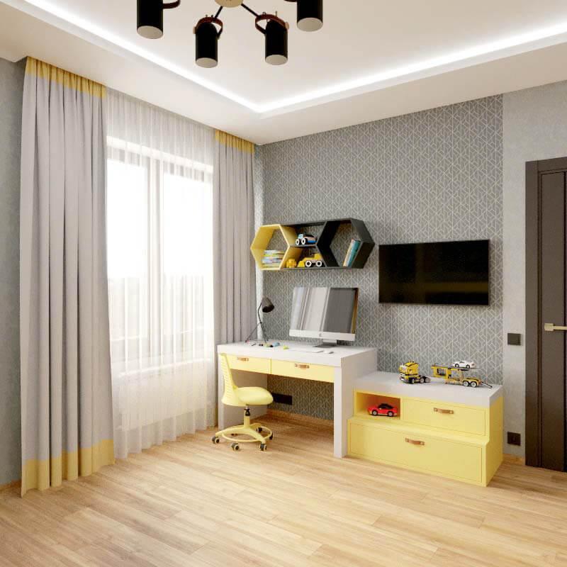 Мебель в спальню мальчика проект 4039-2