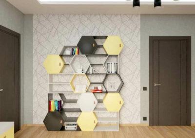 Мебель в детскую спальню мальчика-школьника — проект 4039