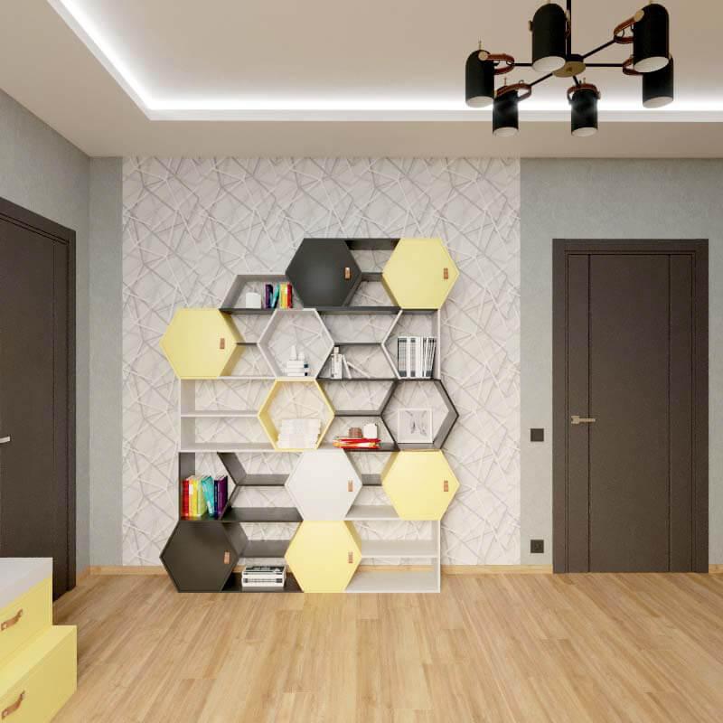 Мебель в спальню мальчика проект 4039-3