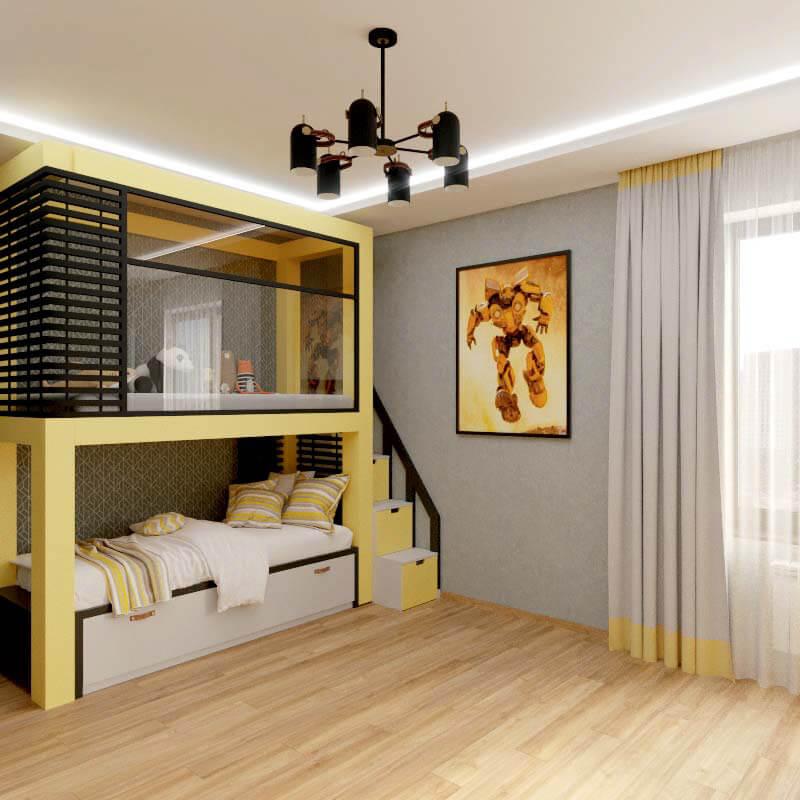 Мебель в спальню мальчика проект 4039-4