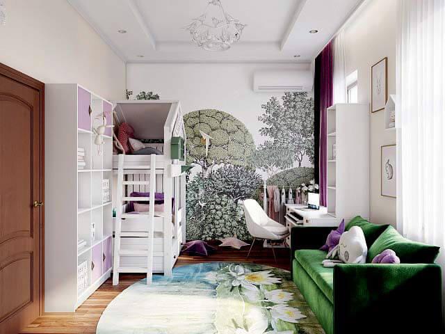 Модная мебель для комнаты девочки проект 3345-1