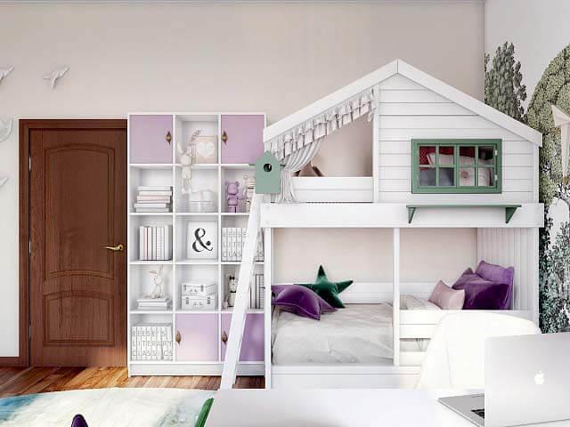 Модная мебель для комнаты девочки проект 3345-2