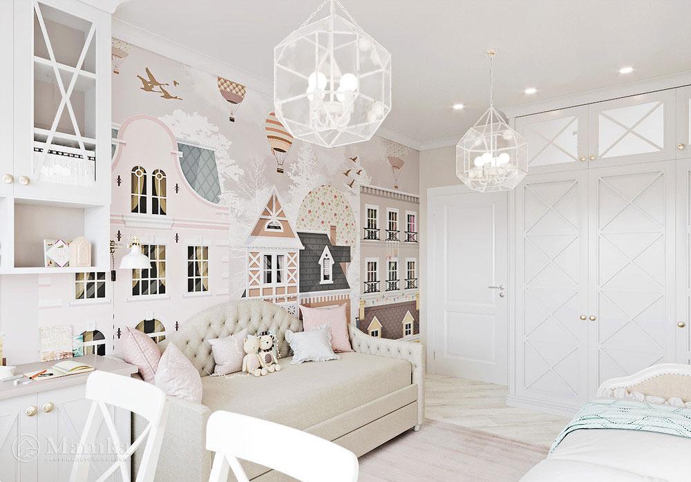 Сказочная идея детской комнаты – волшебный городок по соседству